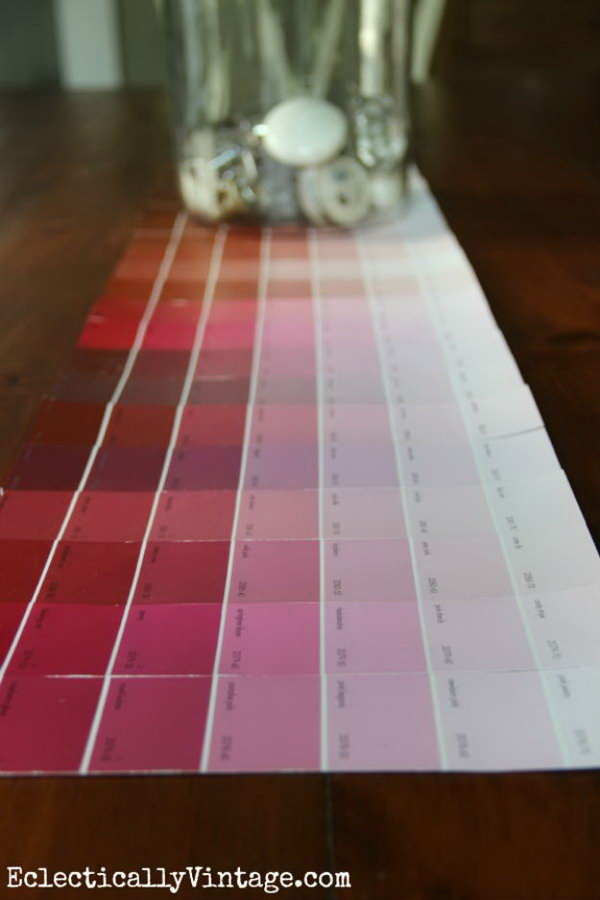 17 Colorful Paint Chip Table Runner
