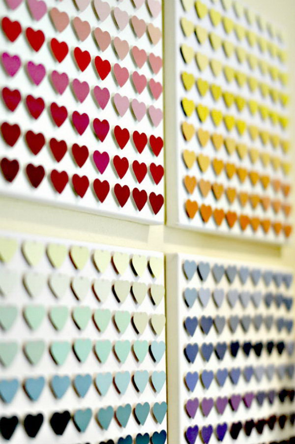 19 Paint Chip Heart Art