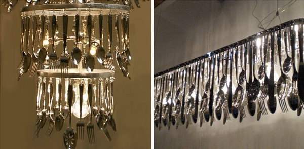 20 Truly Unique Silverware Chandelier