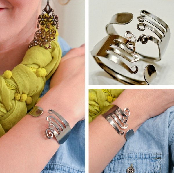 21 Funky Fork Bracelet for Ladies