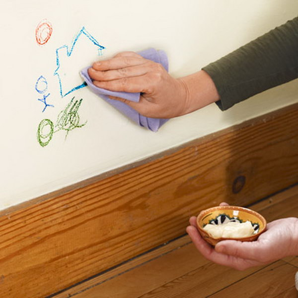 21 Use Mayonnaise to Erase Crayon from Walls