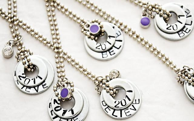 27 Stamped Washer Necklaces