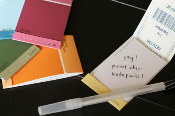 3 Paint Chip Matchbook Notepads