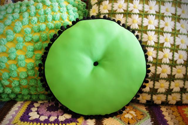 36 Pom Pom Throw Pillow