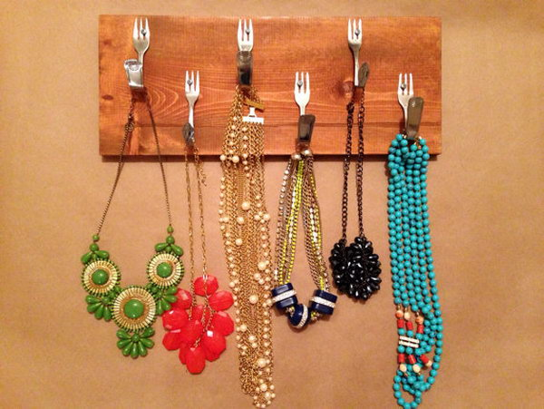 4 Bent Fork Necklace Organizer