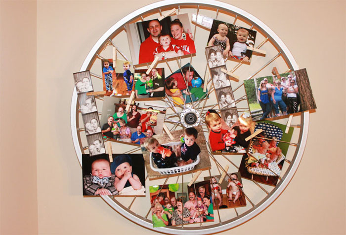 45 Old Bicycle Wheel Picture Frame