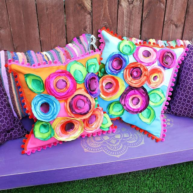 47 No Sew Flower Pillows