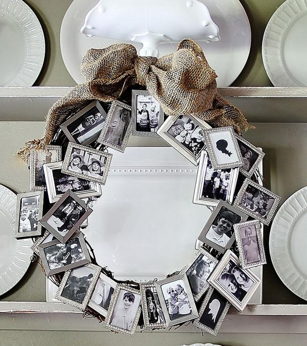 48 Photo Wreath Display