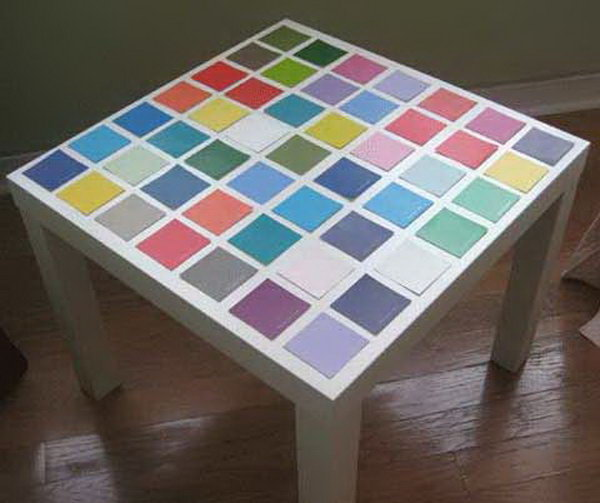 5 Paint Chip IKEA Lack Table