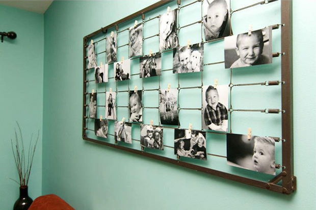 50 Photo Wall Art from Baby Crib Springs