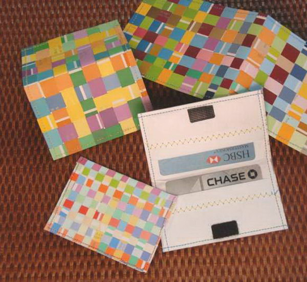 7 Woven Paint Chip Credit Card Holder