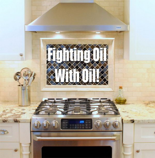 8 Cleaning Kitchen Oil Splatters With Oil