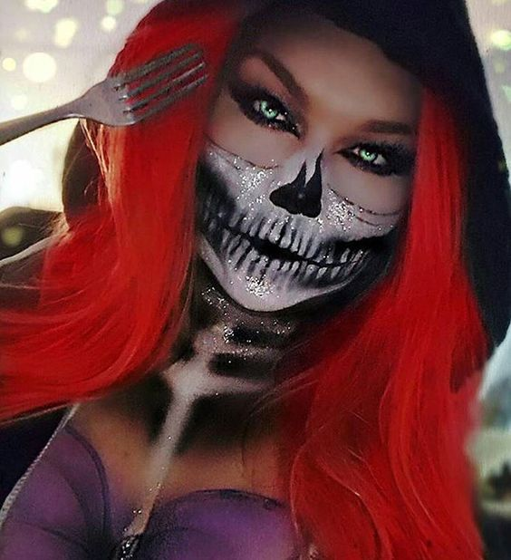 14 Scary Horrifying Halloween Makeup Ideas