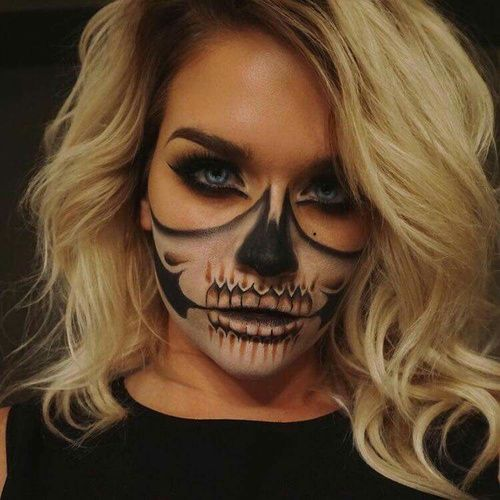 18 Scary Horrifying Halloween Makeup Ideas