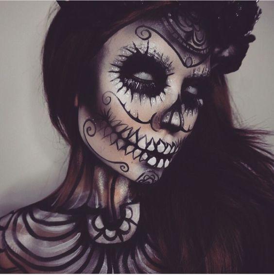 2 Scary Horrifying Halloween Makeup Ideas