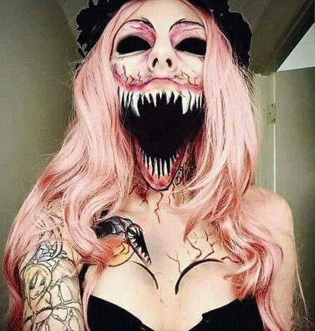 20 Scary Horrifying Halloween Makeup Ideas