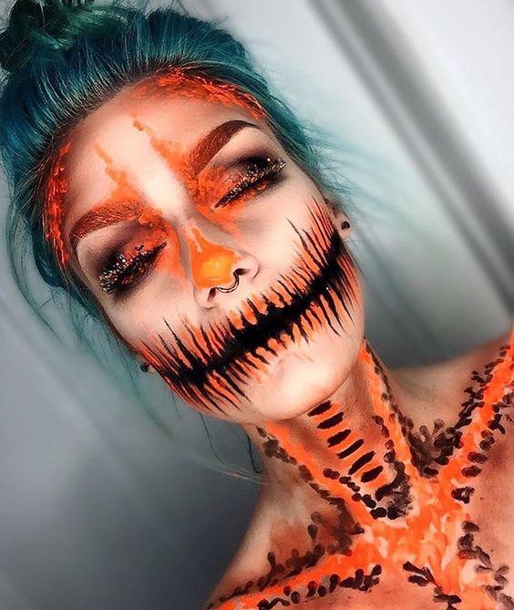 24 Scary Horrifying Halloween Makeup Ideas