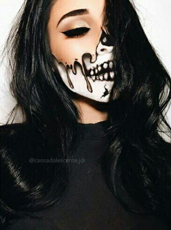 25 Scary Horrifying Halloween Makeup Ideas
