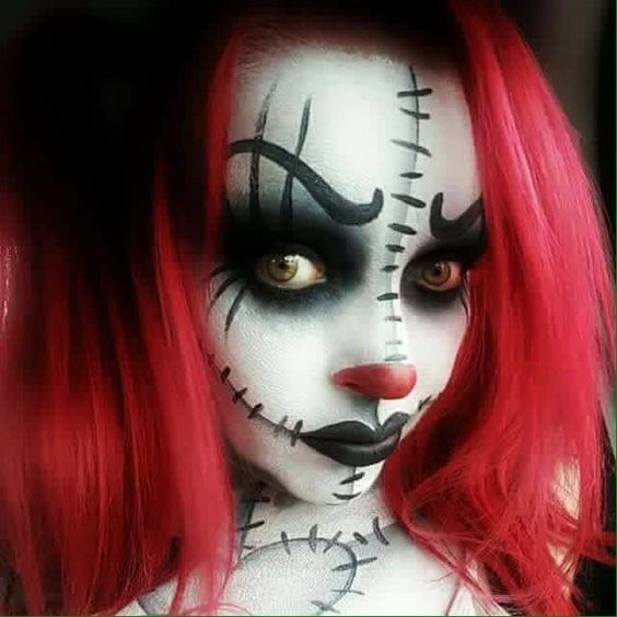 27 Scary Horrifying Halloween Makeup Ideas