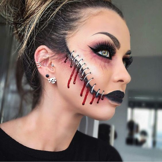 34 Easy Pretty Halloween Makeup Ideas For Women