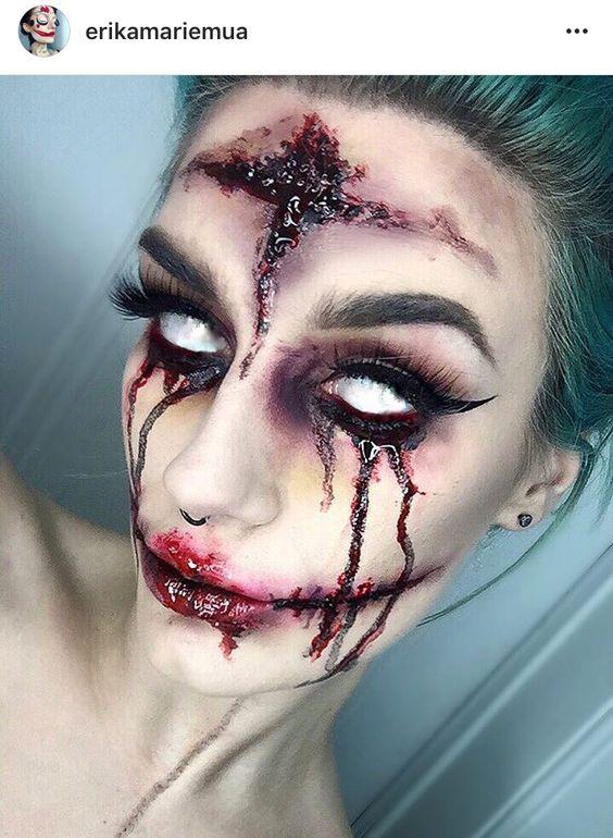 38 Scary Horrifying Halloween Makeup Ideas