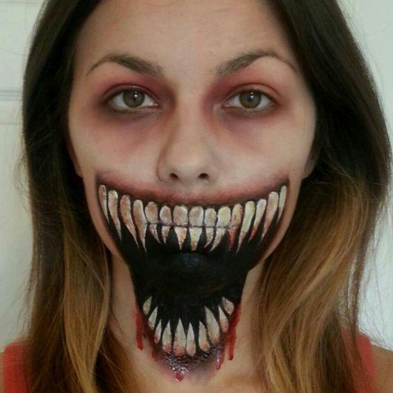 40 Scary Horrifying Halloween Makeup Ideas