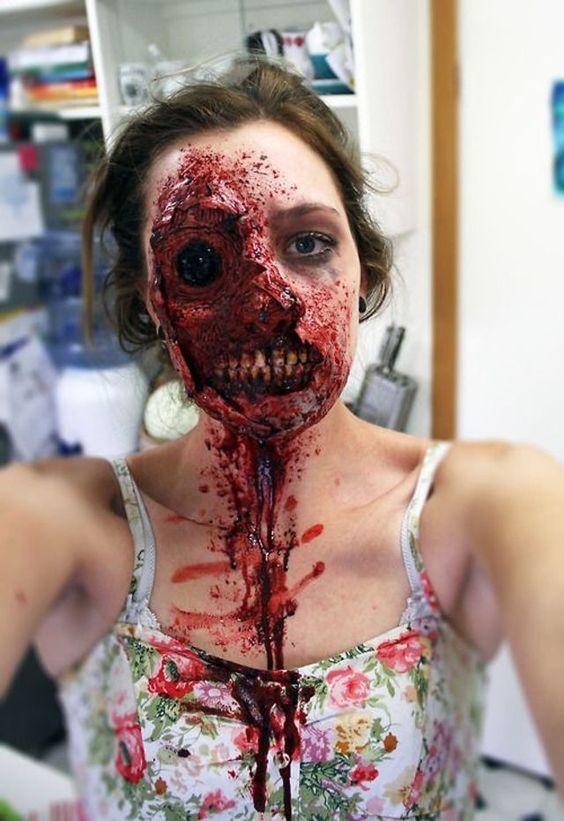 55 Scary Horrifying Halloween Makeup Ideas