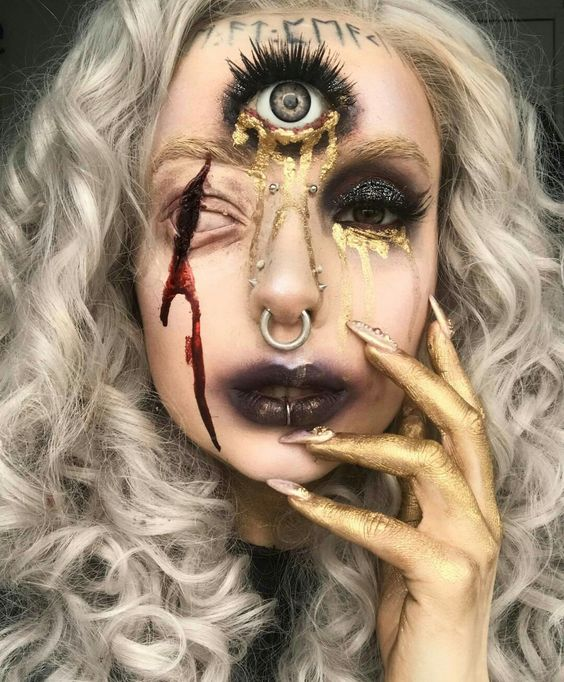 7 Scary Horrifying Halloween Makeup Ideas