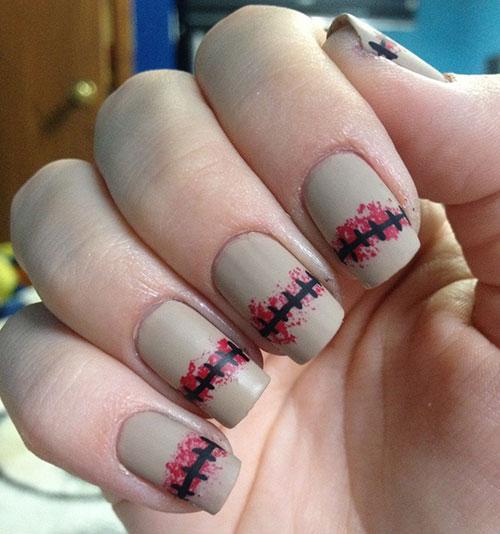1 Bloody Scar Matte Nails
