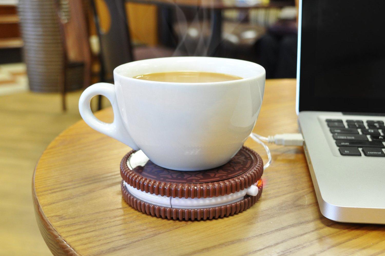 1 Mustard USB Cup Mug Warmer Coaster