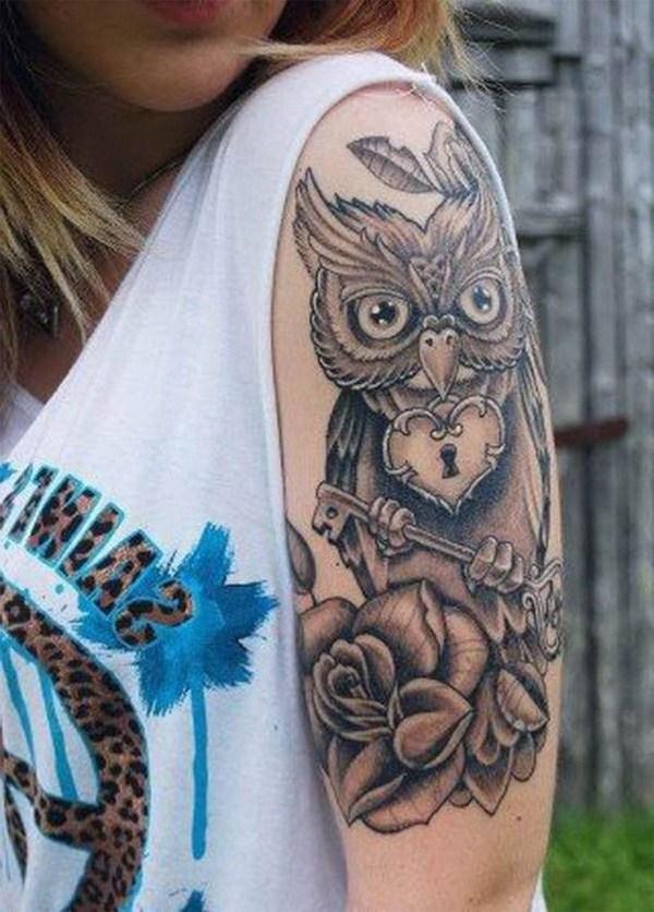 10 Owl Half Sleeve Tattoo Ideas for Women