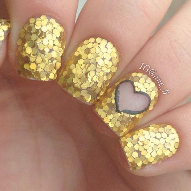 11 Gold Nails