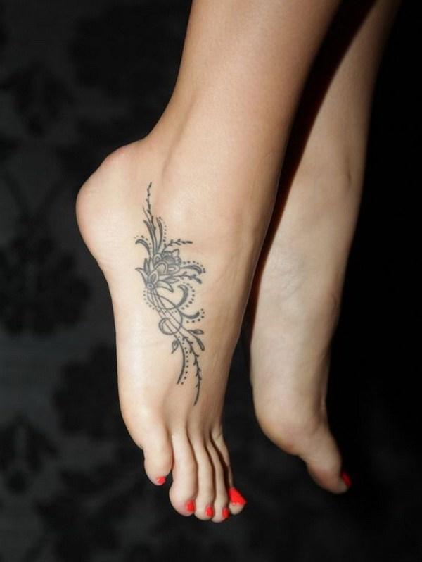 12 Beautiful Tattoo Design on Foot