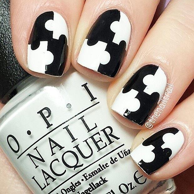 Puzzle Nail Art Designs