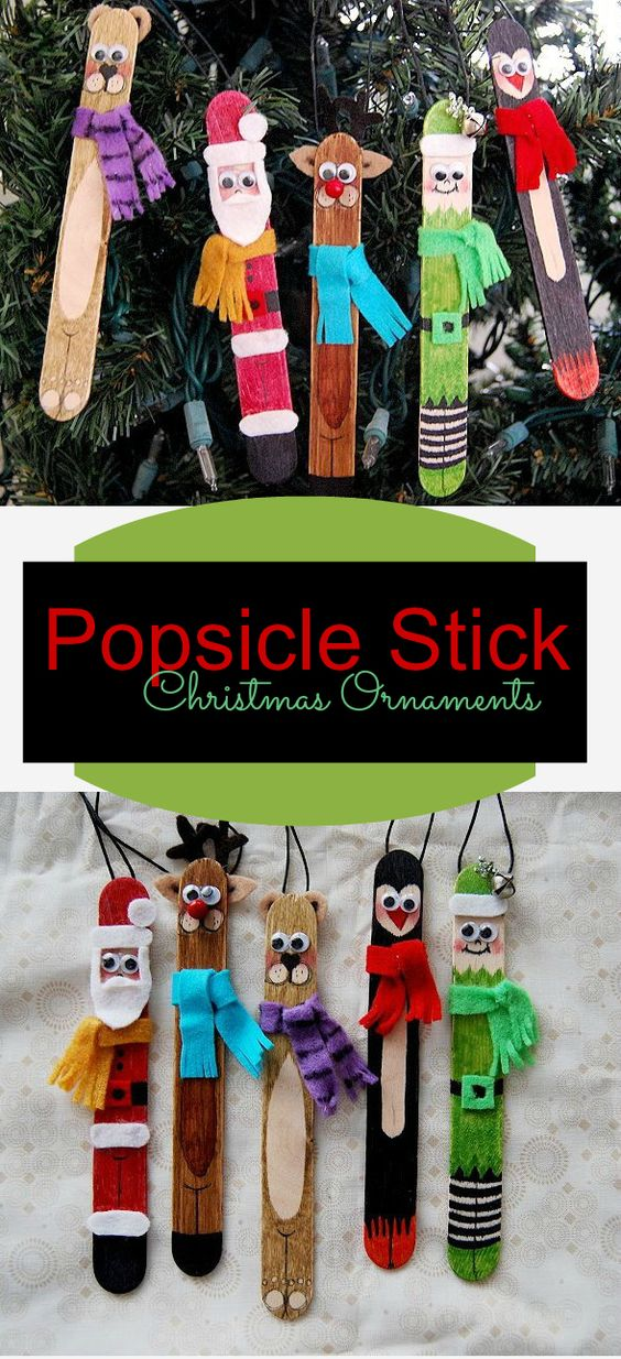 13 DIY Ideas and Tutorials to Recycle Popsicle Sticks for Christmas