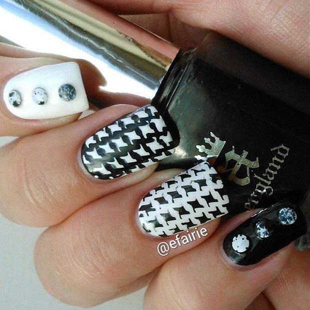 13 Houndstooth Nail Design