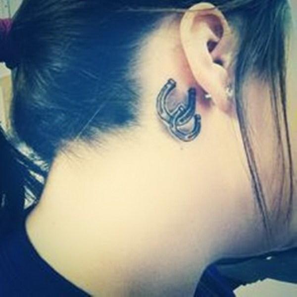 14 Horseshoe Tattoo Behind Ear