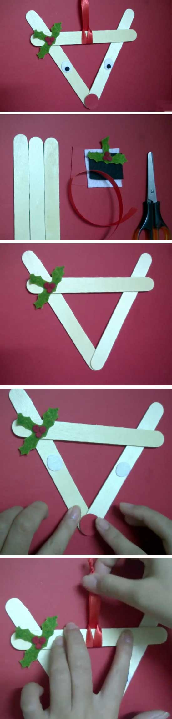 15 DIY Ideas and Tutorials to Recycle Popsicle Sticks for Christmas