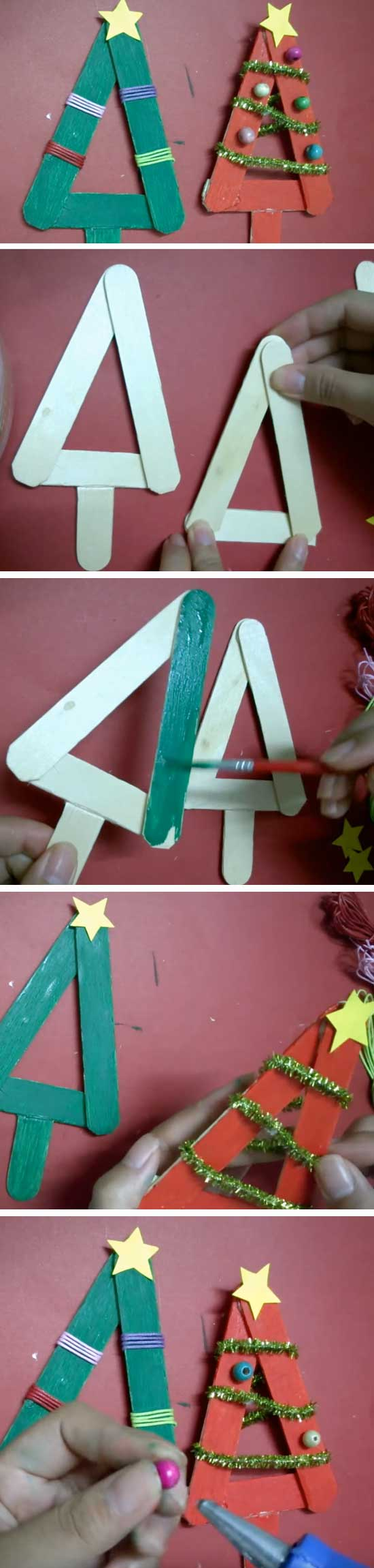 16 DIY Ideas and Tutorials to Recycle Popsicle Sticks for Christmas
