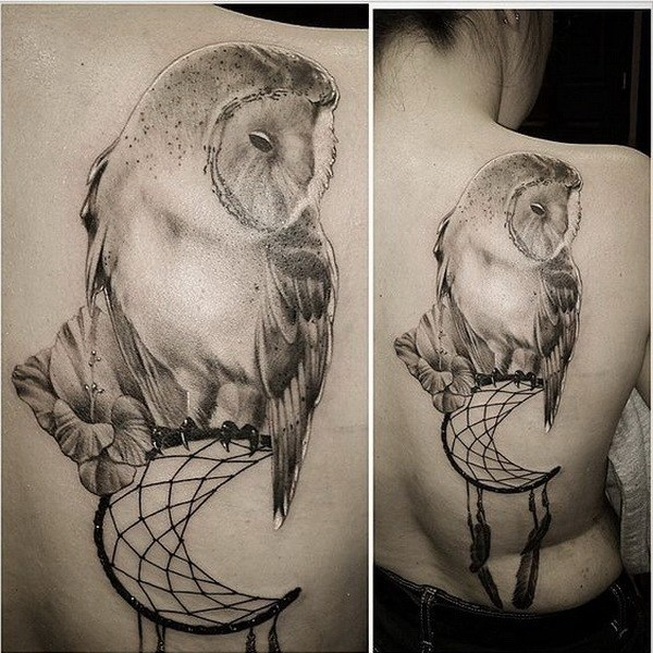 16 Owl on Dream Catcher