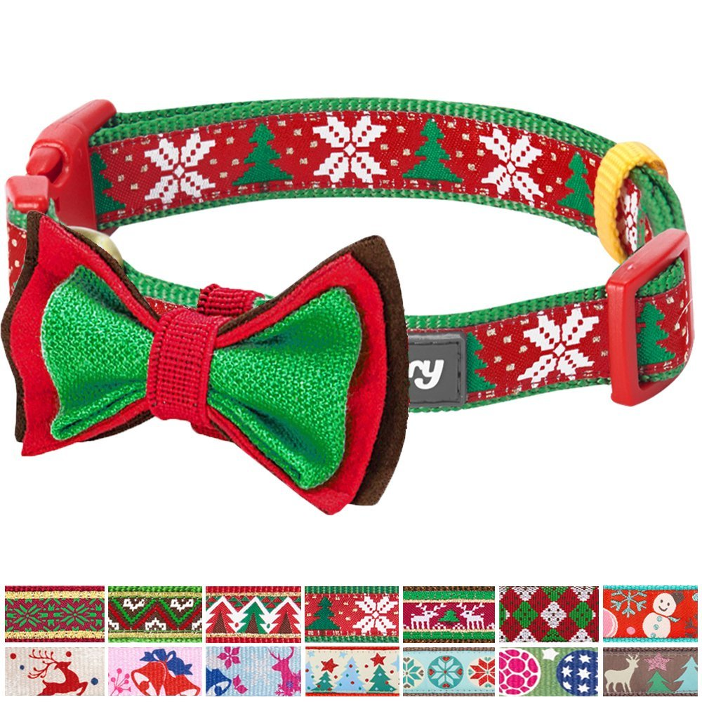 17 Blueberry Pet 14 Patterns Christmas Holiday Season Dog Collars