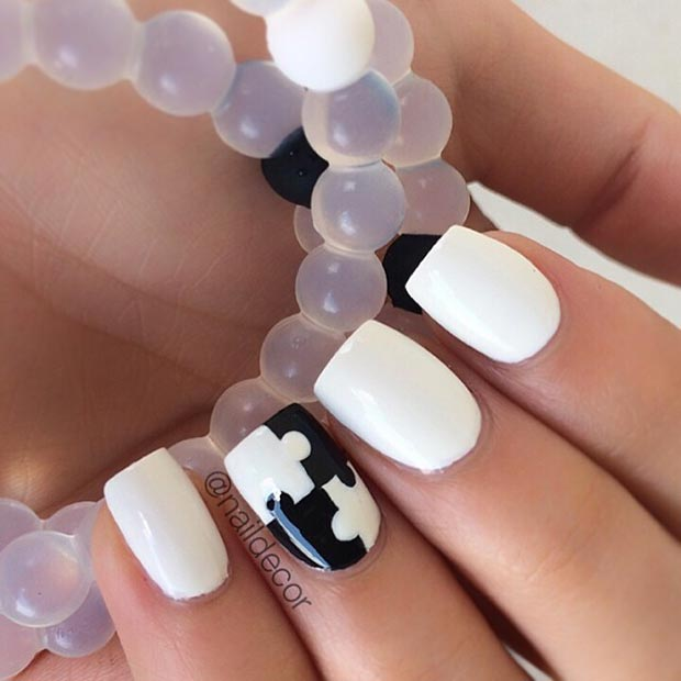 50 Best Black and White Nail Designs – Page 17 – Foliver blog