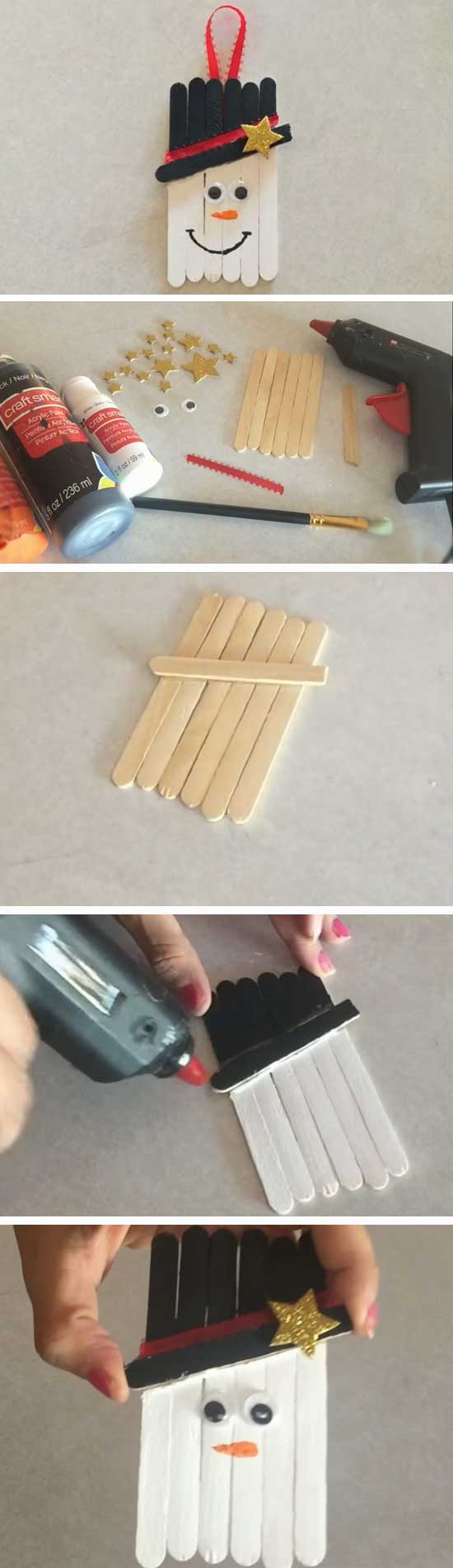 18 DIY Ideas and Tutorials to Recycle Popsicle Sticks for Christmas