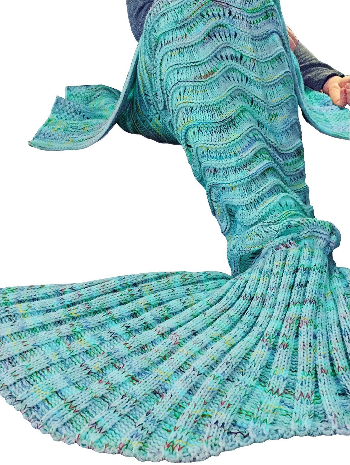 19 Fu Store Handmade Mermaid Tail Blanket For Adult