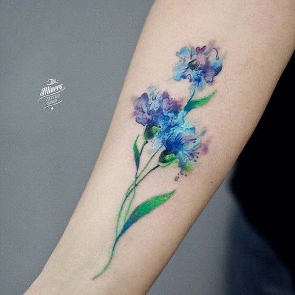 19 Watercolor Flower Tattoo