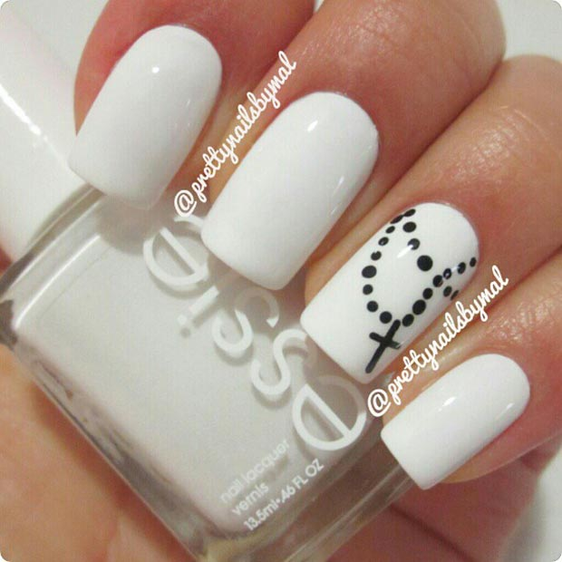 50 Best Black And White Nail Designs Page 2 Foliver Blog