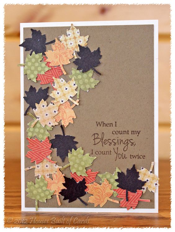 35 Creative And Easy Diy Thanksgiving Greeting Cards Page 20 Foliver Blog