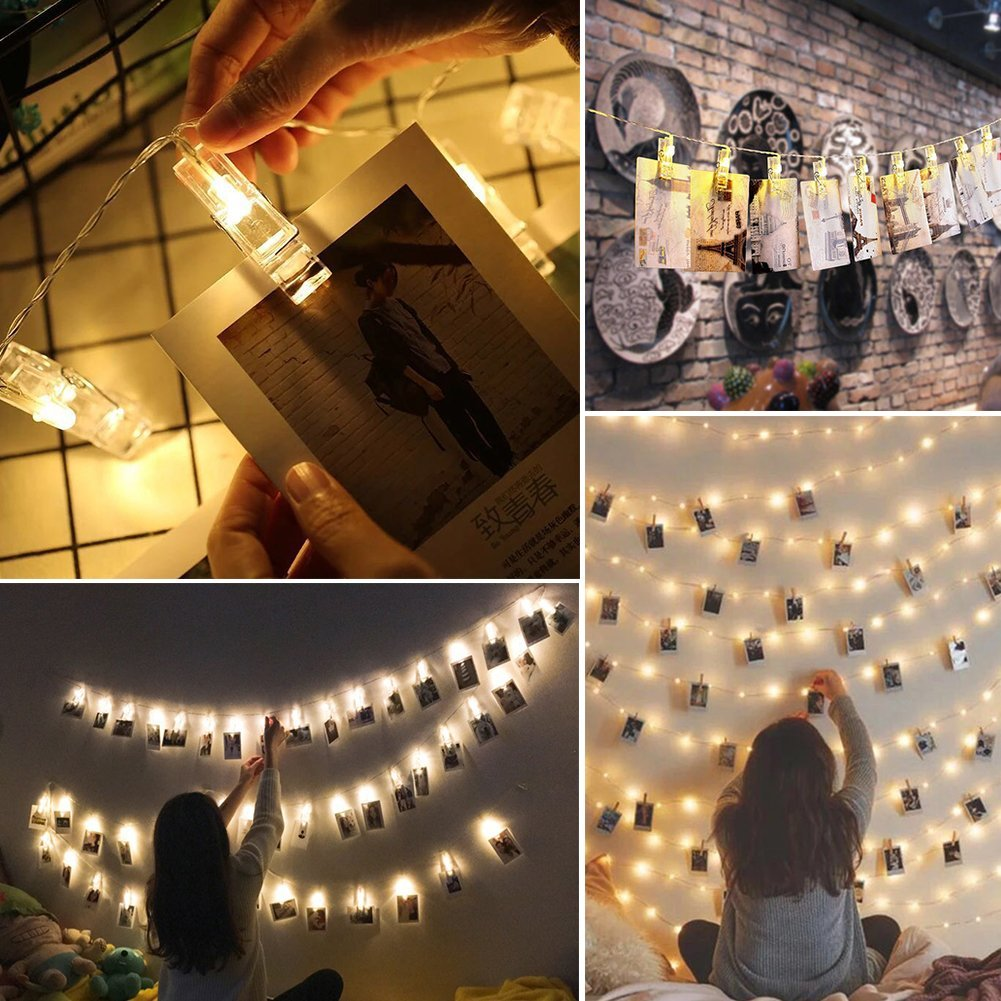 20 LED Photo Clip String Light
