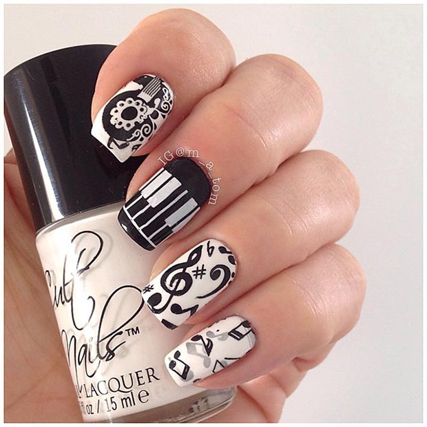 20 Music Nail Design