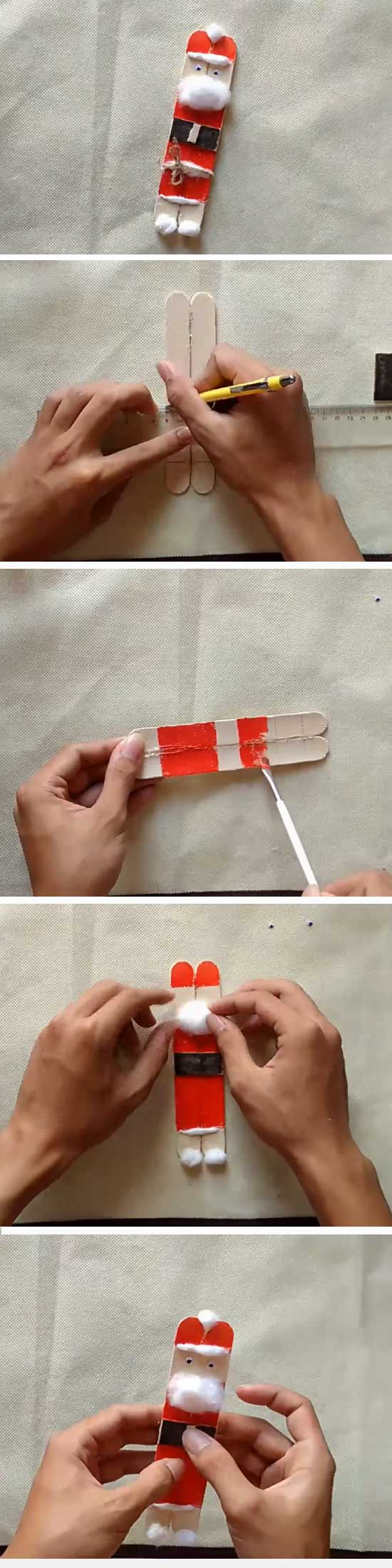 21 DIY Ideas and Tutorials to Recycle Popsicle Sticks for Christmas
